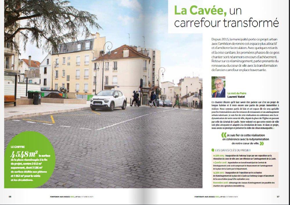 Le carrefour la Cavée réaménagé (voir Fontenay MAG).