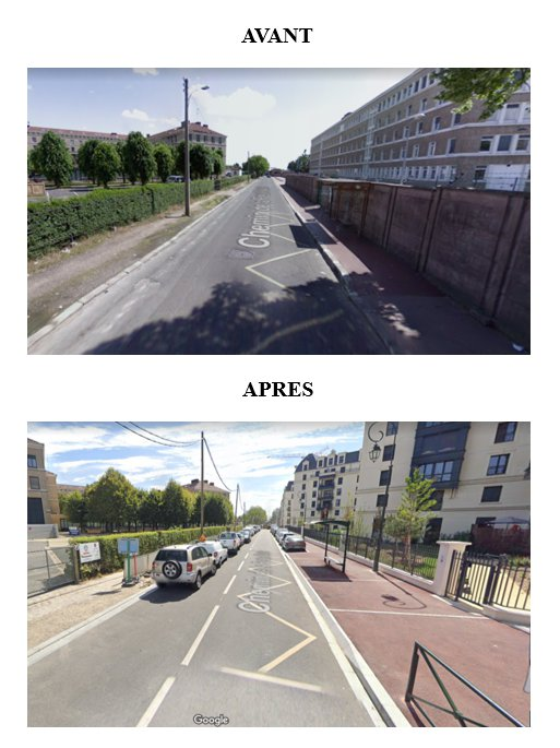 Une rénovation illégale, car elle aurait dû prendre en compte le vélo par une bande ou piste cyclable, ou bien une zone de rencontre.